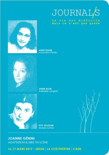 Journal/S : dialogue entre Anne Frank et Etty Hillesum