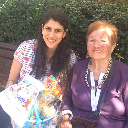 Shoah survivor and student of the Foundation for the Benefit of Holocaust Victims in Israel