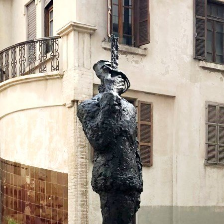 A statue in honour of Captain Dreyfus in Tel Aviv